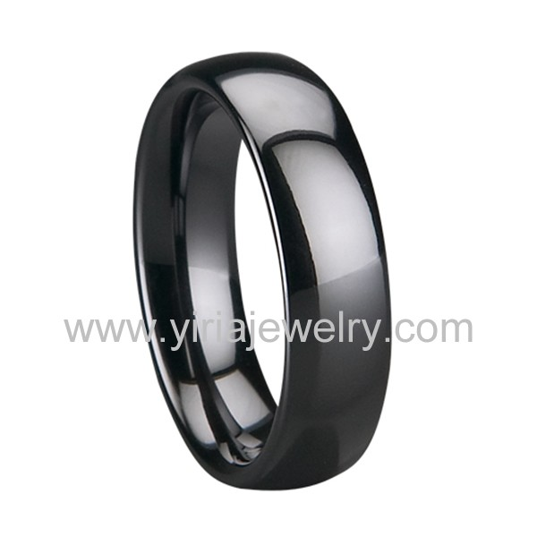Jewelry & Watches Buy Cheap Ceramic Black 4 Mm Polished Wedding Band